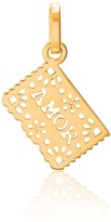 Tane Exquisitely Detailed Love Perforated Paper Charm In 18K Gold
