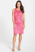 Sue Wong Embroidered Sleeveless Dress
