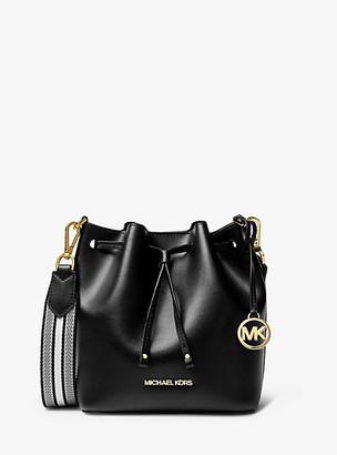 MICHAEL Michael Kors MK Eden Extra-Small Leather Crossbody Bag - Black - Michael Kors