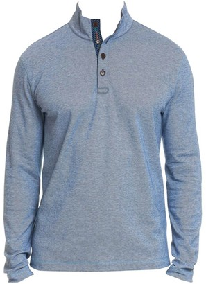 Robert Graham Leonard Pique Cotton Quarter-Button Pullover