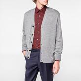Paul Smith Men's Grey Marl Merino Wool Cardigan