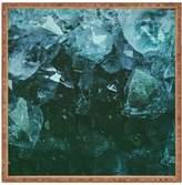 Deny Designs Aquamarine Gemstone Large Square Tray