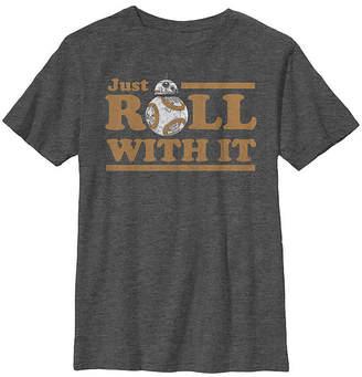 Fifth Sun Bb-8 Roll With It Boys Crew Neck Short Sleeve Star Wars T-Shirt Preschool / Big Kid Slim