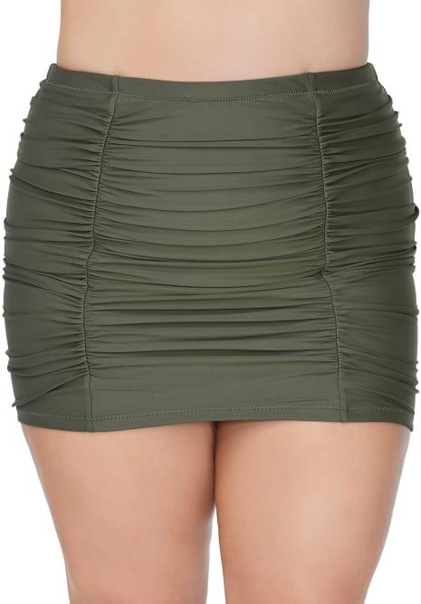Thumbnail for your product : Raisins Curve Alicante Solids Costa Skirted Bikini Bottom