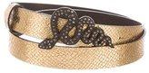 Just Cavalli Metallic Embossed Leather Belt