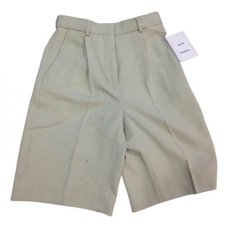 Acne Studios Green Wool Shorts