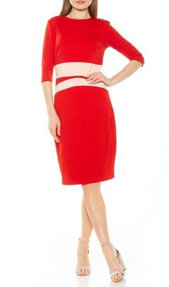 Alexia Admor Elbow Sleeve Colorblock Sheath Dress