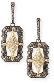 Armenta Old World Crivelli Shield Drop Earrings