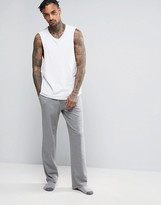 Asos Straight Jogger With Raw Edge