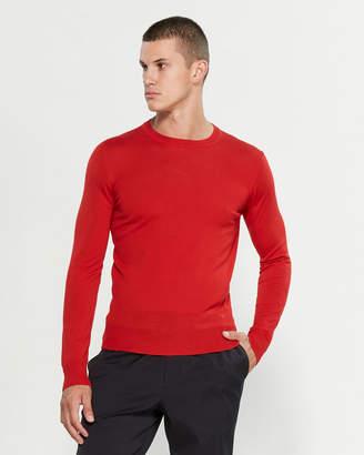 Emporio Armani Red Long Sleeve Wool Sweater