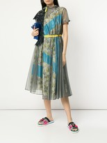 Thumbnail for your product : Kolor Floral Panelled Belted Dress
