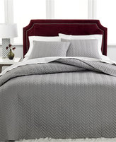 Charter Club Damask Collection Herringbone Pima Cotton 2-Pc Twin Quilted Bedspread Set