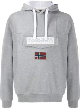Napapijri logo print hoodie