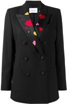 Racil satin-panelled blazer