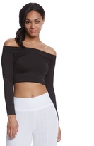 Mika Yoga Wear Chloe Tie Back Crop Long Sleeve 8160972