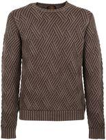 Tod's Brown Diamond Knit Jumper