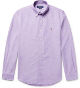 Polo Ralph Lauren Slim-fit Button-down Collar Cotton Oxford Shirt - Lilac