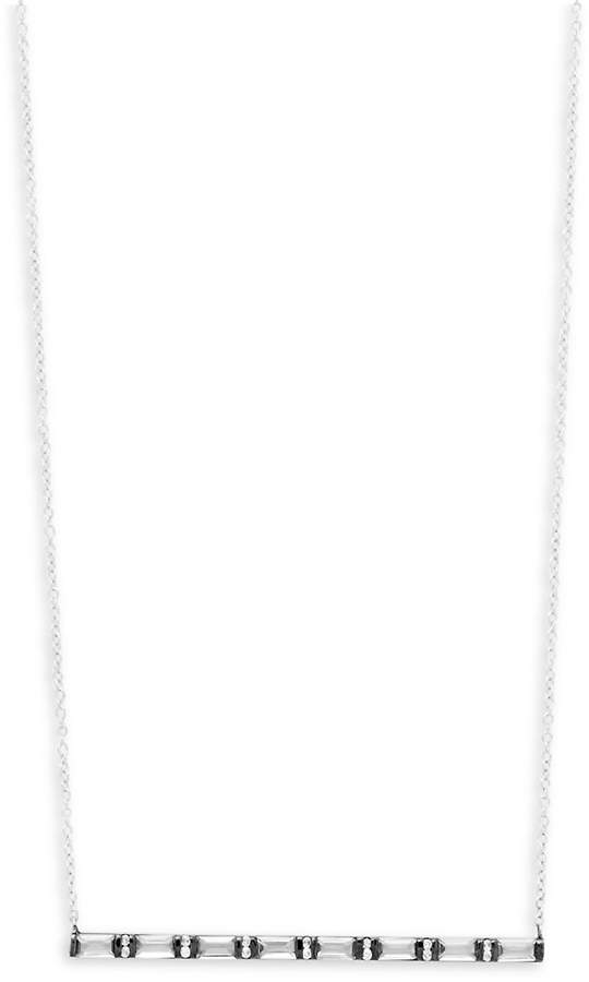 Meira T Women's Diamonds, Clear Quartz and 14K White Gold Horizontal Bar Pendant Necklace