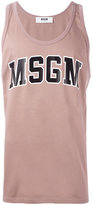 MSGM logo print top - men - Cotton - XL