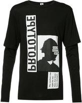Helmut Lang x Travis Scott printed layered longsleeved T-shirt - men - Cotton/Modal - XS