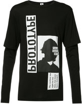 Helmut Lang x Travis Scott printed layered longsleeved T-shirt