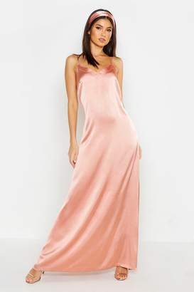 boohoo Woven V Neck Maxi Dress With Matching Head Scarf