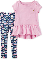 Carter's 2-Pc. Tunic and Butterfly-Print Leggings Set, Little Girls (2-6X) and Big Girls (7-16)