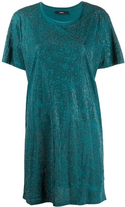 Diesel crystal-embellished T-shirt dress