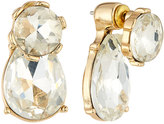 Fragments for Neiman Marcus Mixed Crystal Front-Back Drop Earrings, Clear