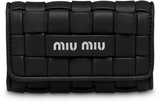 Miu Miu Woven-Design Folded Keychain