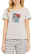 Sleep Sense French Cat Jersey Sleep Top