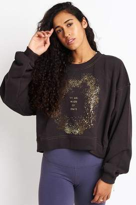 Spiritual Gangster We Are Made Of Stars Billowed Crew Sweatshirt Vintage Black - XS