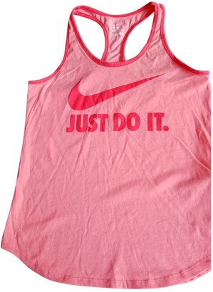 Nike Orange Cotton Top for Women