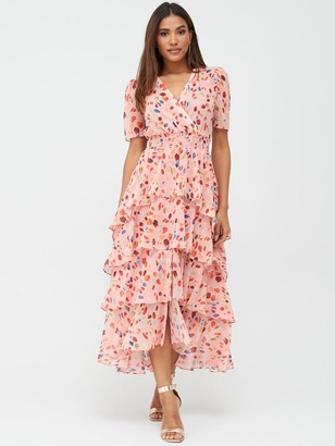 Very Ruffle Tiered Occasion Maxi Dress - Print