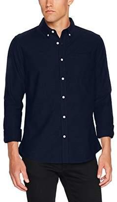 Burton Menswear London Men's Long Sleeved Oxford Casual Regular Fit Shirt,Small