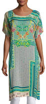 Johnny Was Modeli Printed Long Tunic, Multicolor, Plus Size