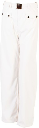 Relax Baby Be Cool Straight Cut Vinyl Trousers With Front Pockets White