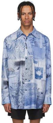 Acne Studios Blue Oversized Print Shirt