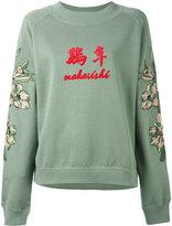 MHI embroidered logo sweatshirt - women - Cotton - 12