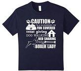 Kids Boxer Shirt I'm A Crazy Boxer Lady Dog Lover T-Shirt 12