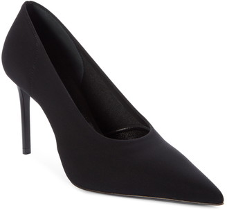 Prada Stretch Knit Pointed Toe Pump