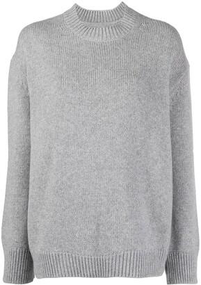 Anine Bing Rosie rib-trimmed cashmere jumper