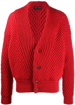 Issey Miyake Pre Owned 2000s Chunky Knit Textured Cardigan