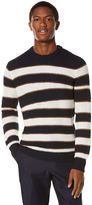 Perry Ellis Engineered Rugby Stripe Crew Sweater