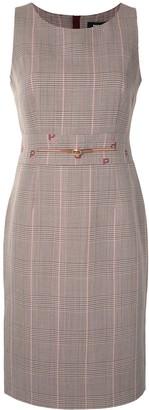 Paule Ka Glen Plaid Sleeveless Dress