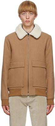A.P.C. Brown Wool Bronze Jacket