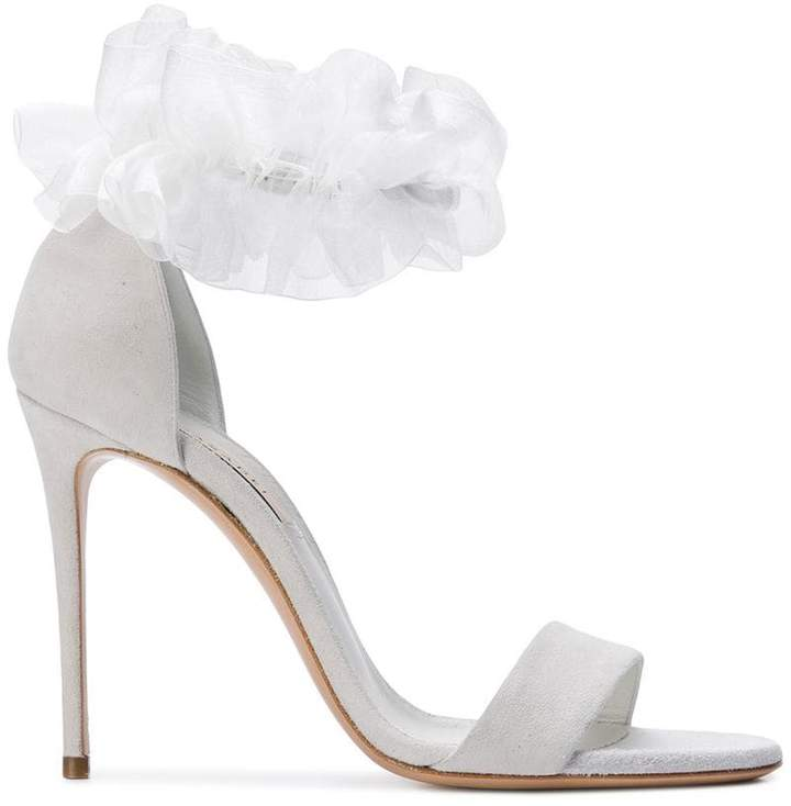 Casadei ruffle embellished sandals