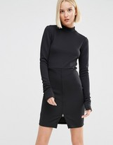 Cheap Monday High Neck Dress with Front Zip