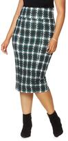 Melissa McCarthy Ponte Mid-Calf Pencil Skirt