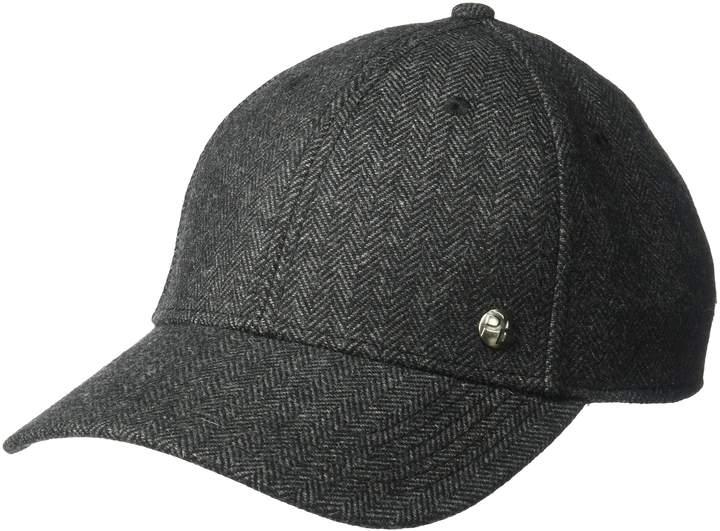 Perry Ellis Men's Donegal Herringbone Baseball Cap